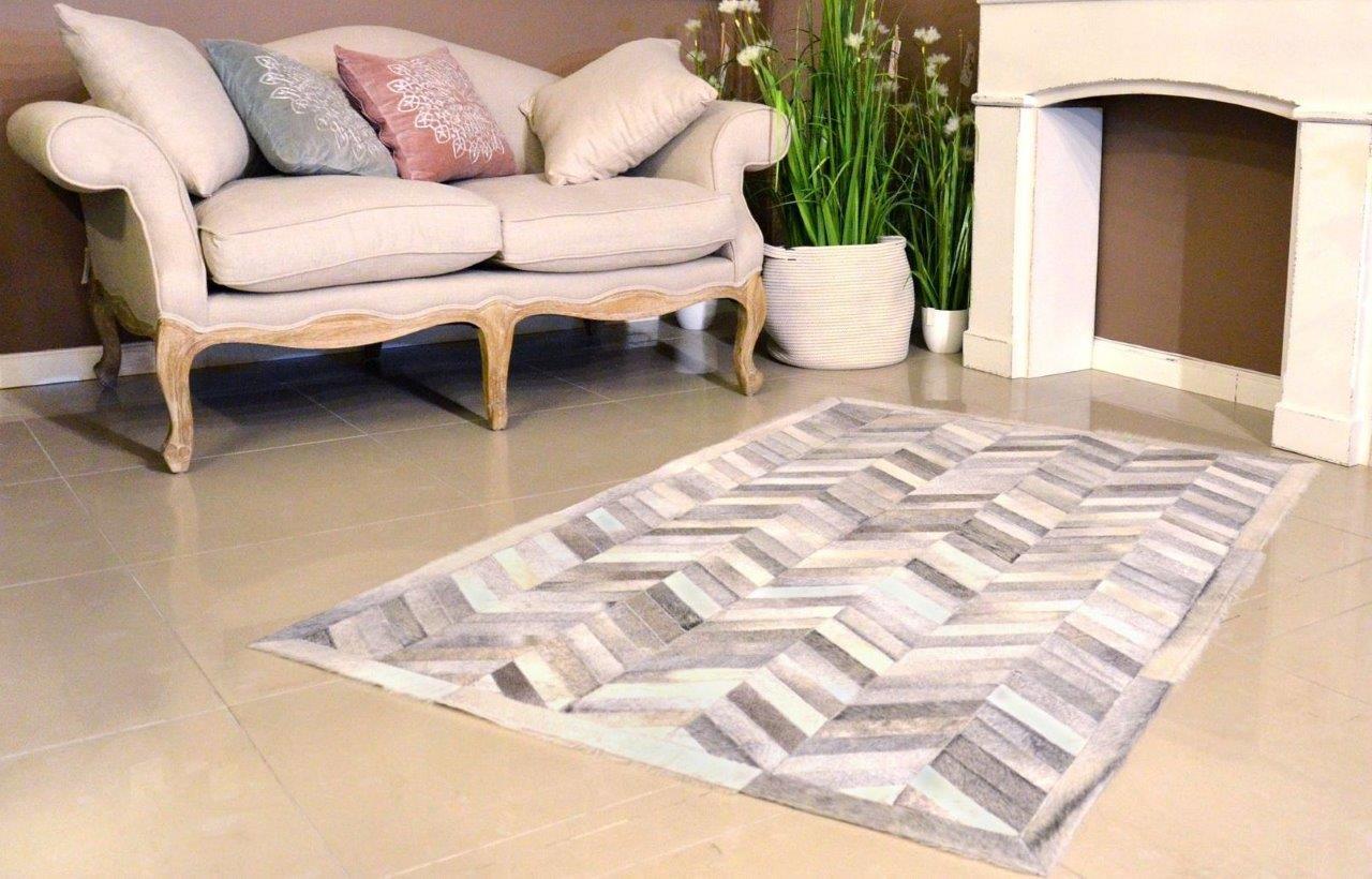 Elegancki design dywanów skórzanych