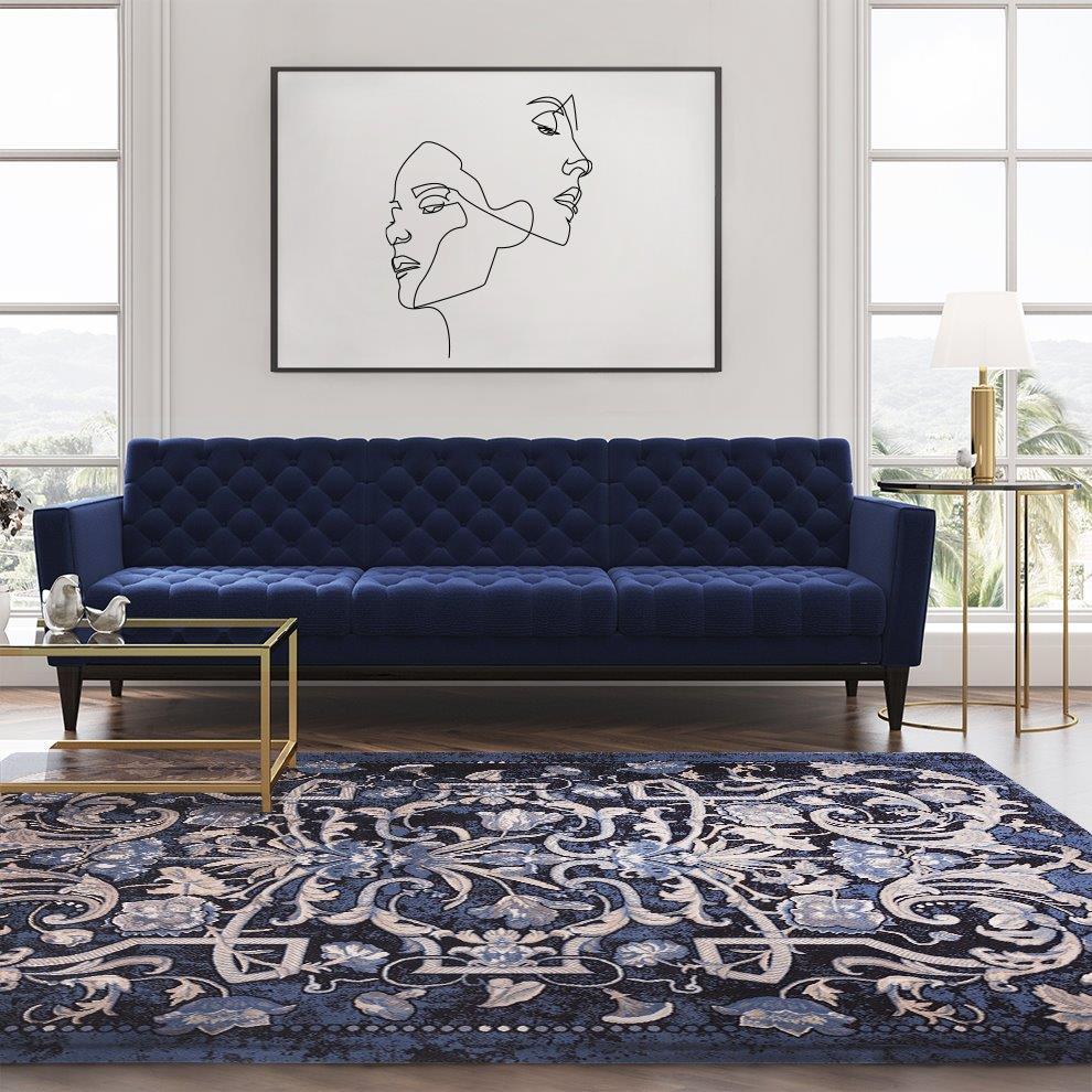 Wybór dywanu do przestronnego salonu